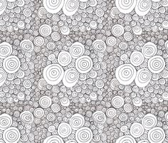 simple_rain wallpaper by wiccked on Spoonflower - custom wallpaper - I'm going to colour in this!