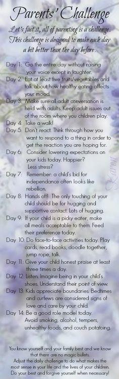 Parent's challenge #3
