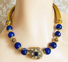 Gemstone Necklace, Necklace Set, Gemstone Beads, Beaded Necklace, Blue Gemstones, Beautiful Gift Boxes, Ethnic, Chain, Pendant
