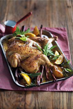 1. Preheat oven to 180°C. Mix together softened butter with juice and zest of 1 lemon. Season well. Stuff the …
