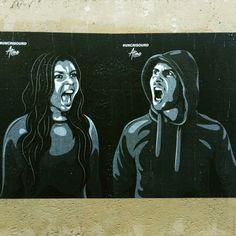 Artist atome - street art paris 2 - rue st sauveur juin 2015