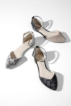 Hadley sweetheart flat: love the stucco black with lace or the French taupe snake!