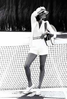 Classic vintage tennis attire.
