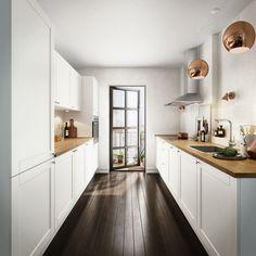 Comment aménager une cuisine en longueur – types d'installation, avantages et astuces déco