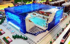 The LEGO Bird's Nest and Water Cube from the 2008 Olympics in China