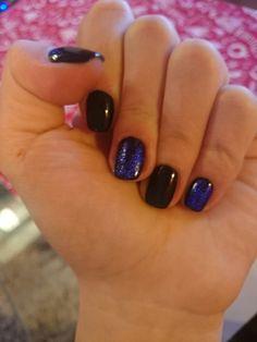 Black and blue foil