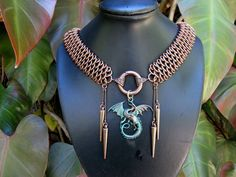 Dragonscale necklace by Gail Rust