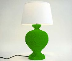 Toy Brick Light Fixtures - The LEGO Lamp is an Expensive Way to Recapture Your Youth (GALLERY)
