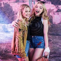 Olivia Holt and Peyton List at Coachella 2016