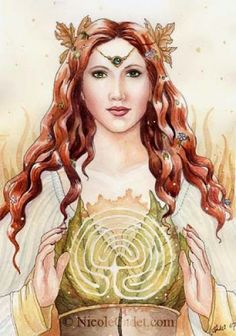 Pagan Goddess Ariadne Of The Labyrinth