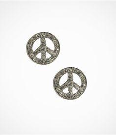 PEACE SIGN STUD EARRINGS | Express