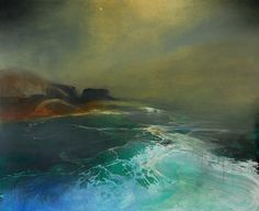 Iona by Beth Robertson Fiddes mixed media -wonderful light and atmosphere...
