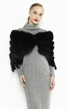 The exterior of this cape is made from natural polar fox fur, sewn carefully, and the interior is padded. Fur Cape, Fox Fur, Coats For Women, Fall Winter, Elegant, Jackets, Fashion, Girls Coats, Classy