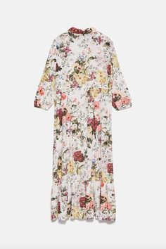 Vestido de print floral de Zara