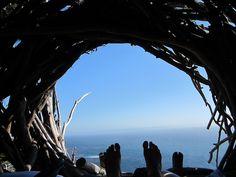 Human Nest at Treebones Resort by SeeMonterey, via Flickr