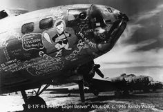"""368th BS, 306th Bomb group, 8th Air Force. The B-17F was named the """"Eager Beaver"""". It was a B-17F-10-BO S/N 41-24487 (The """"Memphis Belle was 41-24485)."""