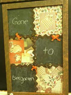Handmade Chalkboard by HairBrainedConcepts on Etsy, $40.00