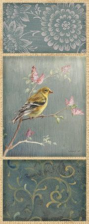 Female Goldfinch - Wag Poster Print by Danhui Nai Chinoiserie, Wow Art, Decoupage Paper, China Painting, Paper Background, Bird Art, Oeuvre D'art, Fine Art Prints, Poster Prints