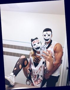 Couples Halloween, Cute Couple Halloween Costumes, Easy Diy Costumes, Homemade Halloween Costumes, Cute Halloween, Halloween Outfits, Halloween Ideas, Costume Ideas, Women Halloween