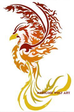 Phoenix tribal by IkaikaDesign on deviantART