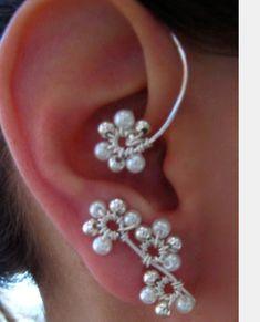 GEWELDIG MOOIE BLOEM-oorbellen flower ear cuff