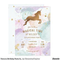 30th Birthday Party Themes, Unicorn Birthday Invitations, 14th Birthday, Unicorn Birthday Parties, Unicorn Party, Birthday Ideas, Fantasy Party, Party Ideas, Theme Ideas