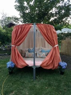 Daybed using old Mini trampoline: