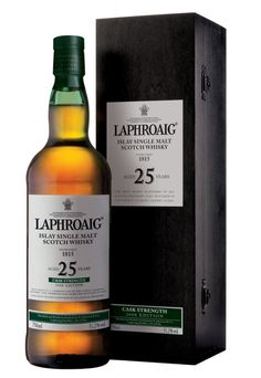 Laphroaig 25 year old has been lovingly created by marrying Laphroaig that has been matured in Oloroso Sherry casks with Laphroaig that has been matured in ex-American Bourbon Barrels; both were filled with newly distilled Laphroaig spirit from day one. (read more...)