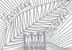 Palm Sunday is fast approaching and we will be having an intergenerational service to mark the occasion! Here is a colouring sheet I ha. Sunday Activities, Easter Activities, Family Activities, Apostles Creed, The Nativity Story, Easter Story, Bible Coloring Pages, Kids Church, Church Ideas