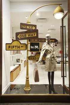 Which Sign Will You Be Following? Coach Window Display by Elemental Design. get more inspiration http://vit-rina.blogspot.com/