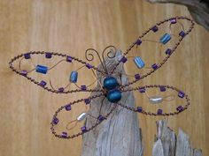 butterfly made out of wire and beads