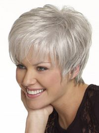 Short grey hair, Short hair color, Gray hair cuts, Wig hairstyles, Hair styles for women over Thin fine hair - High quality Women Nice short Natural Straight wig Stylish lady Silver synthetic hair - Hairstyles Over 50, Short Hairstyles For Women, Wig Hairstyles, Straight Hairstyles, Glasses Hairstyles, Hairstyle Ideas, Simple Hairstyles, Hairstyles Pictures, Black Hairstyles