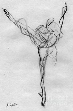 arabesque ballet illustration