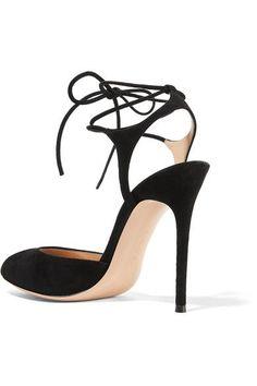 Gianvito Rossi - Suede Sandals - Black - IT36.5