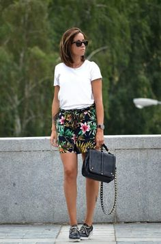 Cozy Outfit from victimofmycloset with Ray-Ban Sunglasses, LOEWE T-Shirts, Saint Laurent Shoulder Bags, Zaful Shorts, Jimmy Choo Sneakers