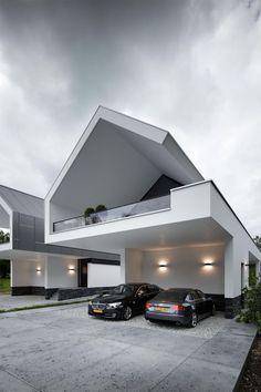 Un style atypique pour cette maison presque futuriste !
