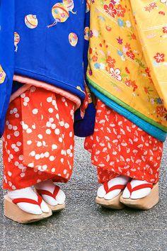 Maiko's kimono: photo by Gavin Hellier