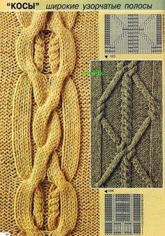 "Photo from album ""Verena № 2 2002 Спец выпуск УЗОРЫ"" on Yandex. Aran Knitting Patterns, Cable Knitting, Knitting Stitches, Knitting Needles, Knit Patterns, Free Knitting, Stitch Patterns, Hindu Baby Girl Names, Different Stitches"
