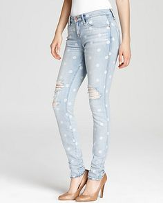 MARC BY MARC JACOBS Jeans - Rolled Slim in Lily Dot | Bloomingdale's