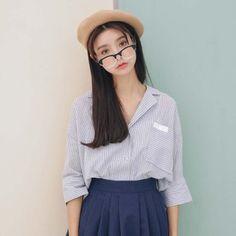 2016 mùa thu mới của Hàn Quốc tay áo đồ ngủ Hàn Quốc phù hợp với gió cổ áo sơ mi…