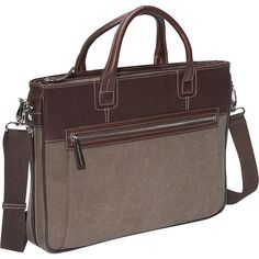 Bellino Autumn Slim Expandable iPad Brief Attache ($78) ❤ liked on Polyvore featuring men's fashion, men's accessories, men's tech accessories, brown, business and non-wheeled business cases