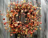 Beautiful berry wreath for fall...sadly sold :(