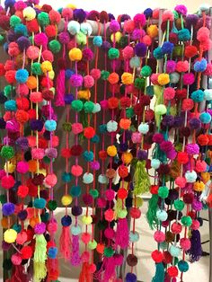 Handmade Pom Pom garlands| Proudly hand made in Mexico| wholesale and enquiries: jubelshop@outlook.com |#pompom #handmade #bohochic #handcrafts #bohodecor #partysupplies #garlands #pompoms #pom #craft #tassel #colorful #artisanmade