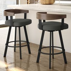 Shop Amisco Lars Urban Swivel Bar Stool - Overstock - 24014760 - Caramel Faux Leather / Dark Brown Metal - Counter Height - in.