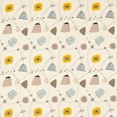 Tulip and design on pinterest - Sanderson swallows wallpaper pebble ...