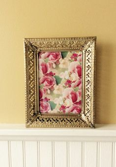 Vintage 5 x 7 Gold Ornate Picture Frame by YellowHouseDecor