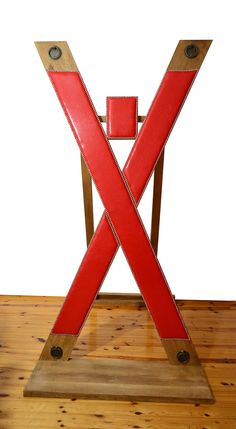 Exclusive very reliable Saint Andrew's cross, made of natural hardwood width platform 35 cm, length platform 110 cm. On the pictures you can see what a beautiful and sturdy furniture The cross is new, it may be a different color wood and leather. St Andrews Cross, Red Rooms, Playroom Decor, Furniture Projects, Latex, Fun, Etsy, Dominatrix, Bespoke