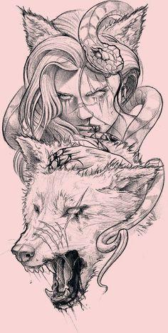 Dark Art Drawings, Tattoo Design Drawings, Pencil Art Drawings, Art Drawings Sketches, Tattoo Sketches, Cool Drawings, Zombie Drawings, Kunst Tattoos, Body Art Tattoos