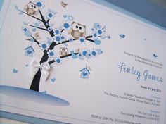 Pack of 10 Hand Made Christening Invitations  by justsimplylovely, £20.00
