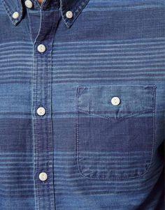 ASOS | ASOS Denim Shirt With Printed Stripe at ASOS